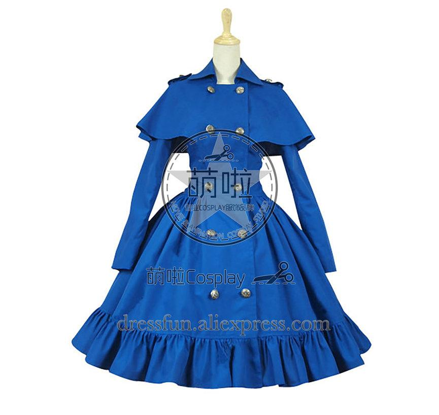 Gótico Lolita Cosplay Reenactment Cape Cape Steampunk Vestido Do Estágio Traje Double-breasted Com Manto Vestido Clássico
