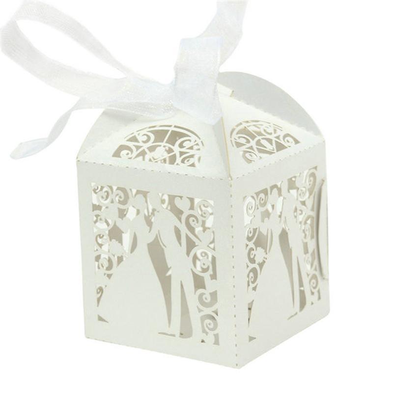 Elegant Laser Cut Candy Box For Wedding Sweet Bag Wedding Favors