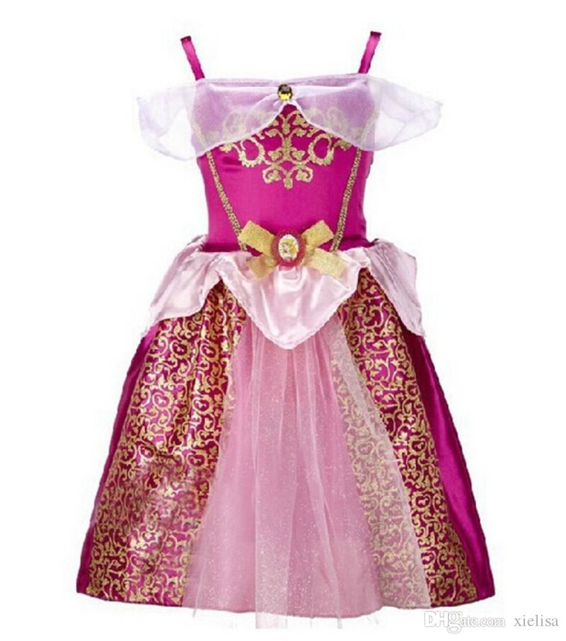 2018 hot sale Summer Baby Girl Princess Dresses Cosplay Dress Toddler Girls Party Birthday Costume Vestido