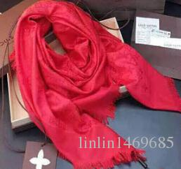 High Quality Celebrity Design Cotton Cashmere Scarf Protection Fashion Letter Printing Scarves Shawl Wrap 140*140m