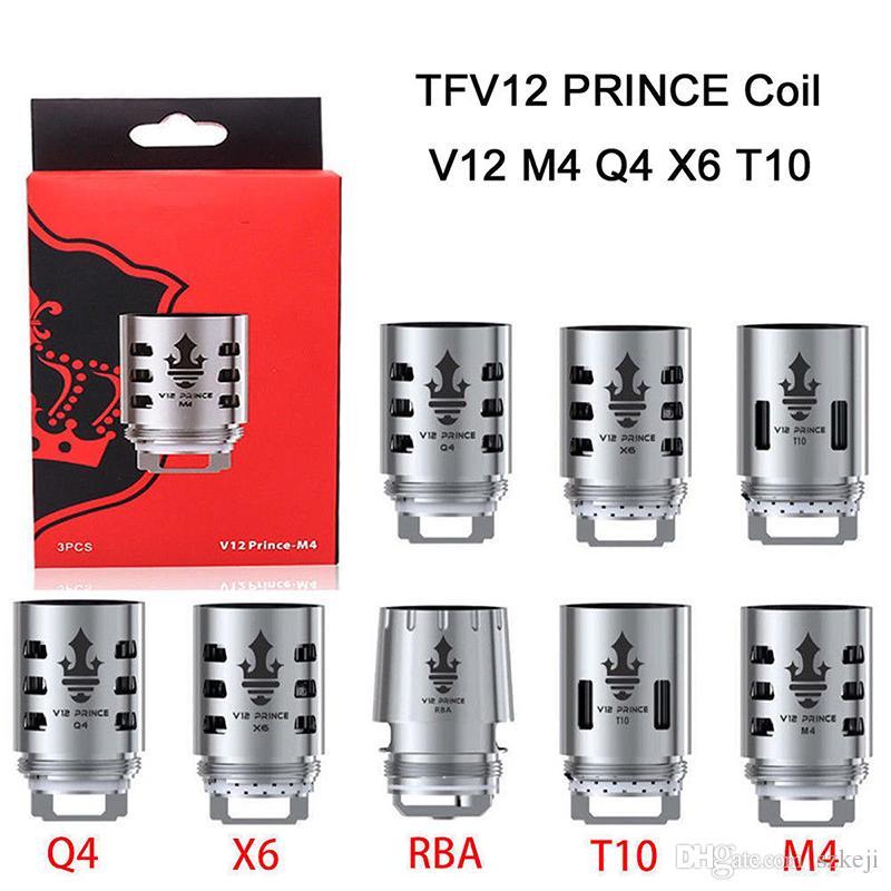 TFV12 Prince Coil Cloud Beast Head V12 Q4 X6 T10 M4 New Mesh Strip 0 15ohm  Replacement Coils Core Tank DHL free
