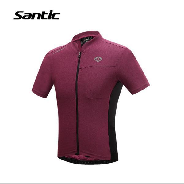 Santic Mens PRO Cycling Jerseys Sportswear Summer Style Red Cycling ... 44b5f63b7