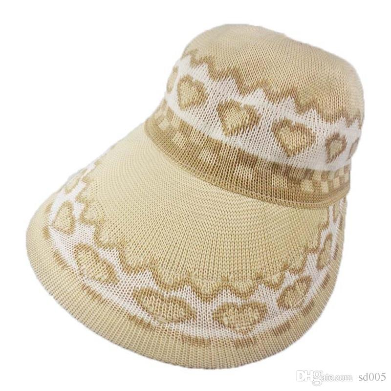 fb59909b20b43 2019 Summer New Woman Sun Hat Printing Travel Leisure Time Knitting Straw  Hats Outdoors Sunscreen Cold Cap Love Berets 10cj Gg From Sd005