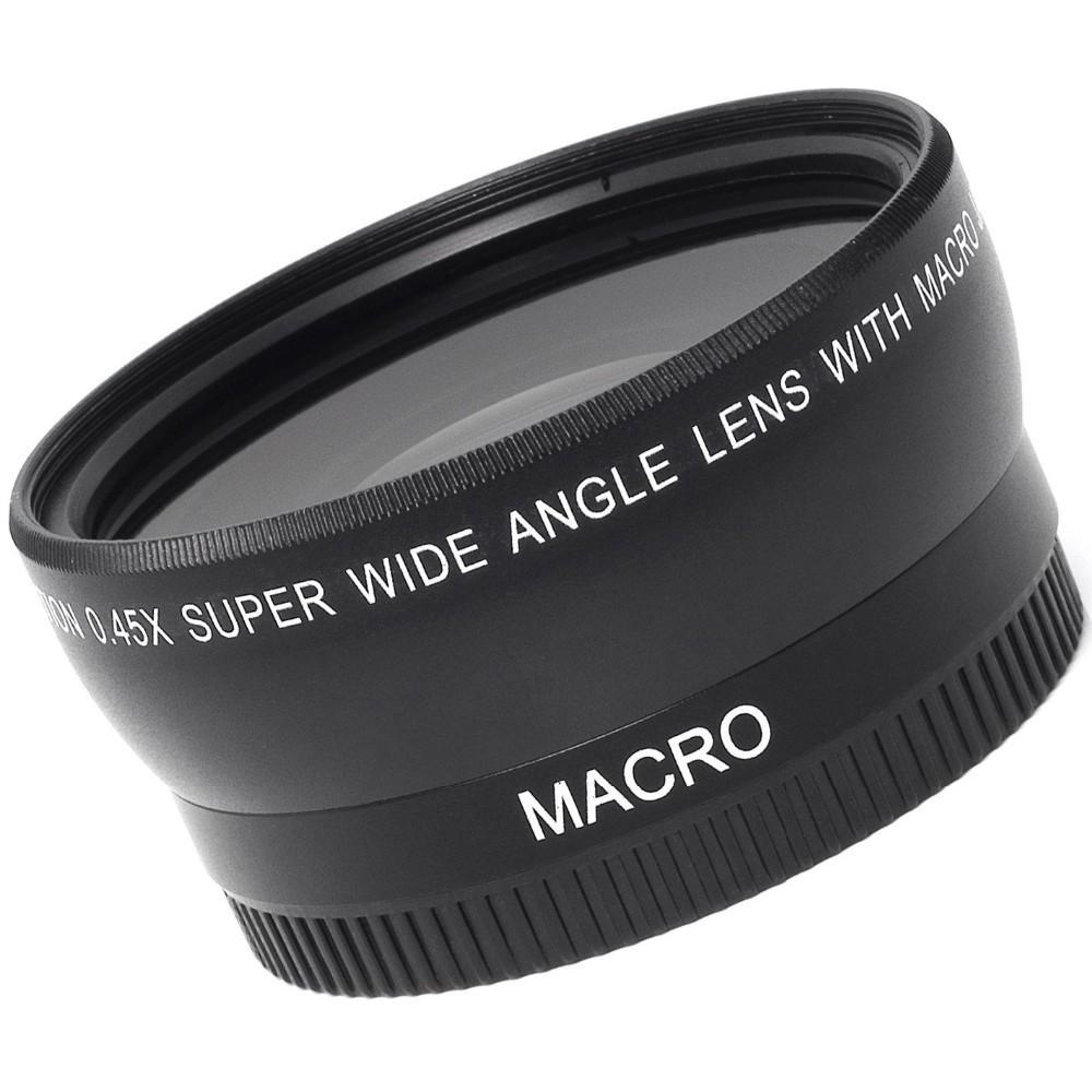 55MM 0.45x Wide Angle Lens + Macro Lens for Canon 5D 6D 60D 350D 400D 450D 500D 1000D 550D and Nikon Sony Cameras