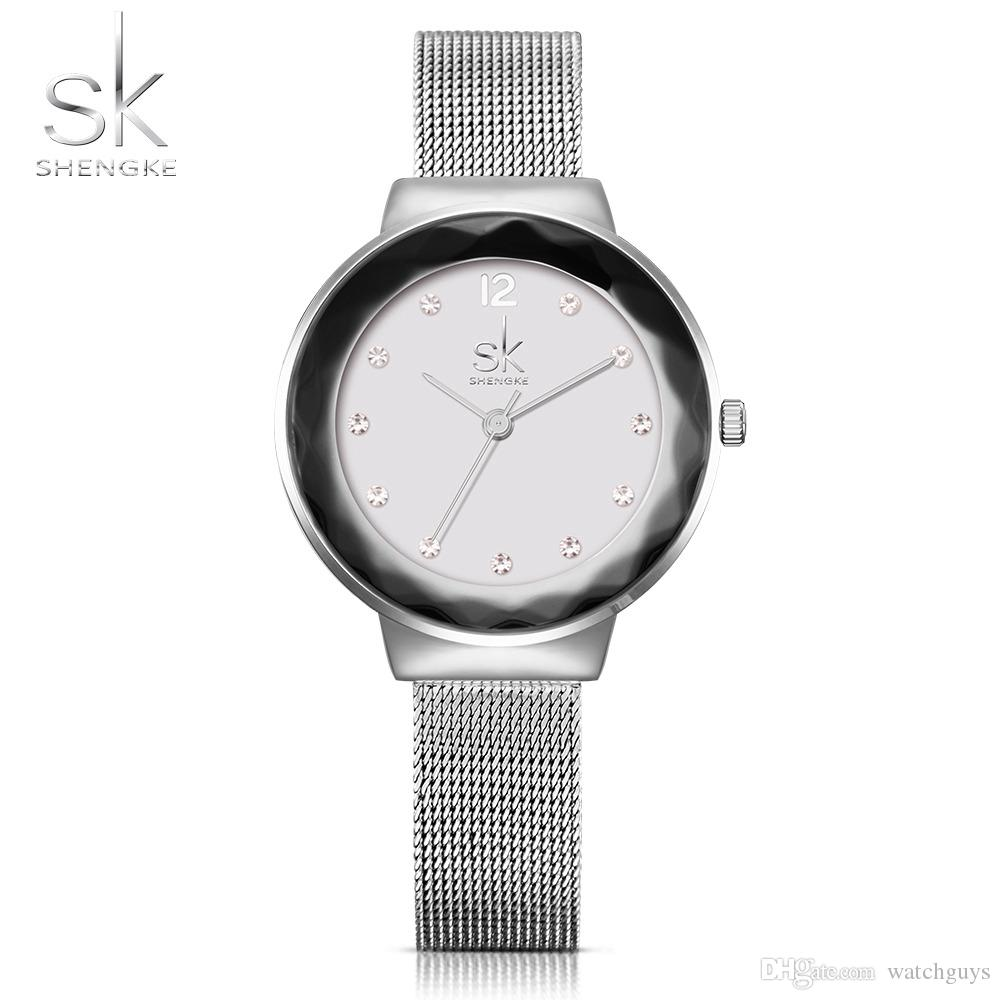 2dae7554b98c Compre SK Nueva Moda Mujeres Relojes De Acero Inoxidable Relojes De Pulsera  De Lujo Señoras Rhinestones Reloj Reloj De Cuarzo 2017 Montre Femme A   30.46 Del ...