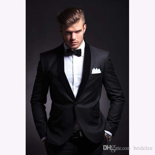 Acheter Mode Hommes Costume 2019 Slim Fit Hommes Costumes Dernière Manteau  Pantalon De Conception De Mariage De Blazer De Mariée De Smoking De Costume  Homme ... d04088d9efb