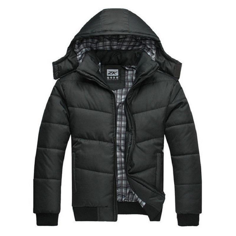 dcc60939c 2019 Winter Jacket Men Quilted Black Puffer Coat Warm Fashion Male ...