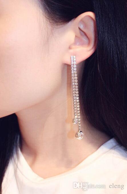 2018 United States charm long Earrings Super flash zircon earrings Jewelry For Women Party Gift ./169