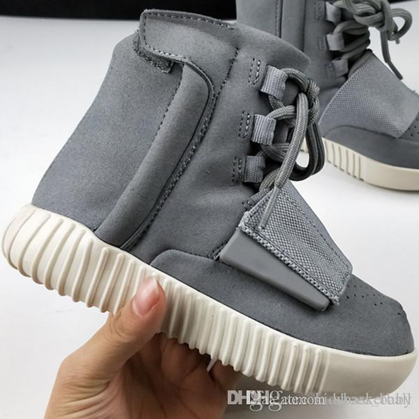 e5ac6929445ed Children Shoes The 2017 Newest Kanye West 750 Boost Brown Gum Glow In The  Dark Basketball Shoes Sneakers For Kids Sports Boots Size 28 35 Best Kids  Tennis ...