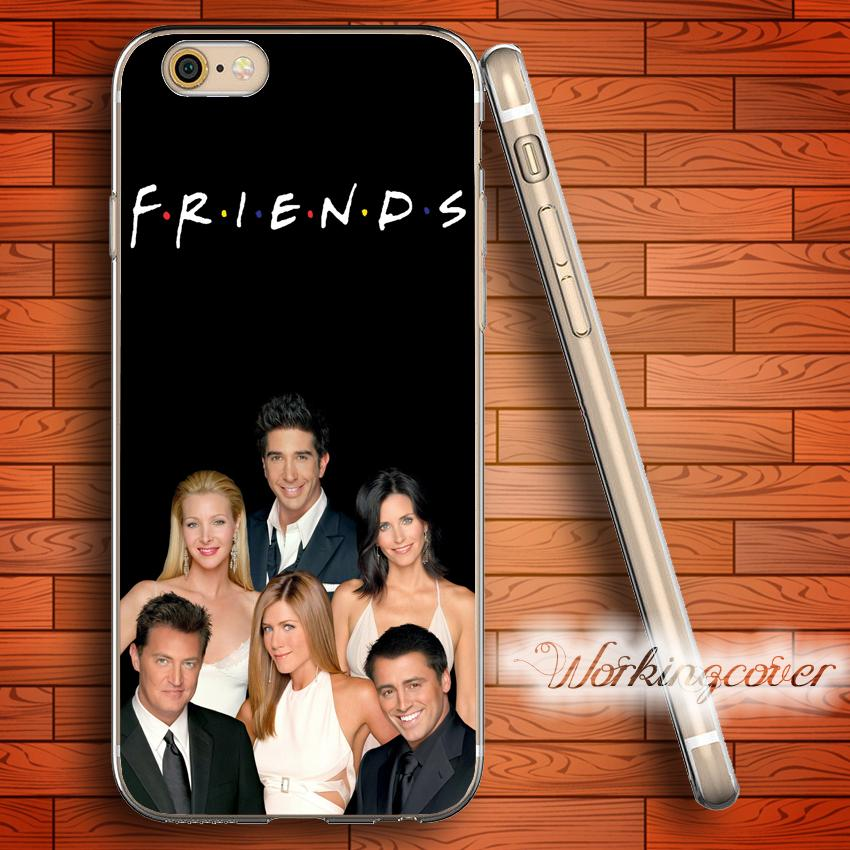 Coque Friends Tv Show Clear TPU Silicone Case for iPhone X 8 6 6S 7 Plus 5S  SE 5 5C 4S 4 Case for iPod Touch 6 5 Cover