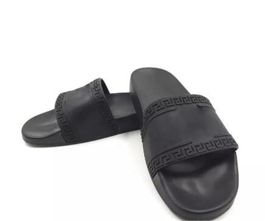 d64d4d9801d6de V051versace Sandals Medusa Scuffs Luxury Brand Men Summer Flip Flops  Slippers Black Red White Blue Loafers Beach Slides Designer Sandals Cheap  Shoes For ...