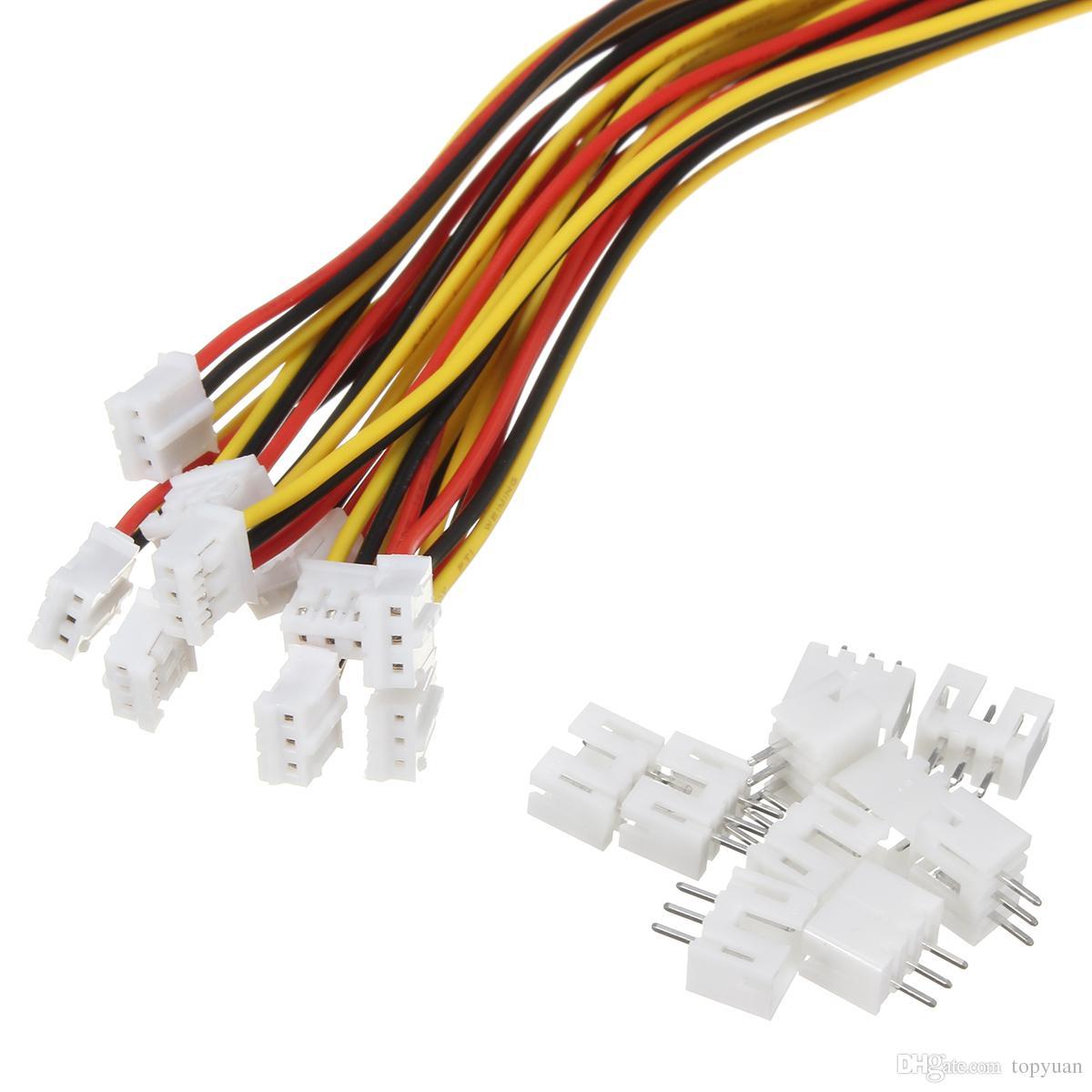 Connettore Micro Micro JST 2.0 PH 3 Pin con cavi cavi da 30 cm