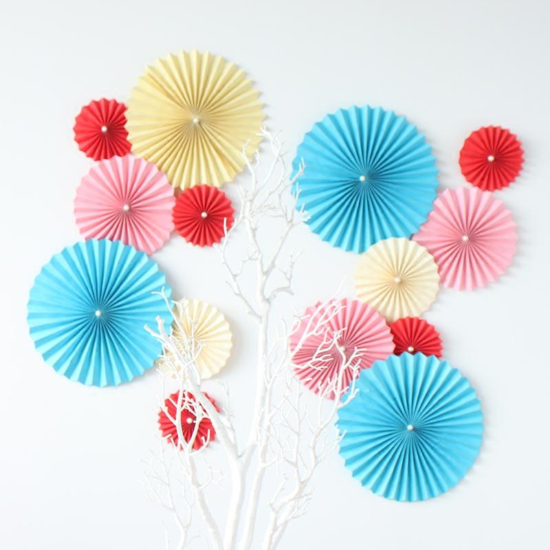 Paper Tissue Fan Christmas Decorations By Pearl And Earl: 10 25cm Tissue Paper Fan Flower For Mariage Casamento