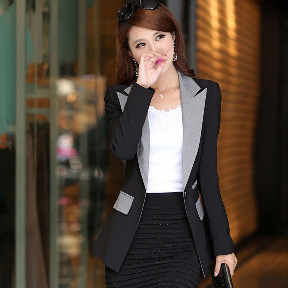 34a93324e8d 2019 Blazer Jacket Women Suit Office Ladies 2017 Vogue Refresh Blazers  Mujer Jaqueta Feminina Outwear Manga Longa Slim Fit Winter From Zhusa