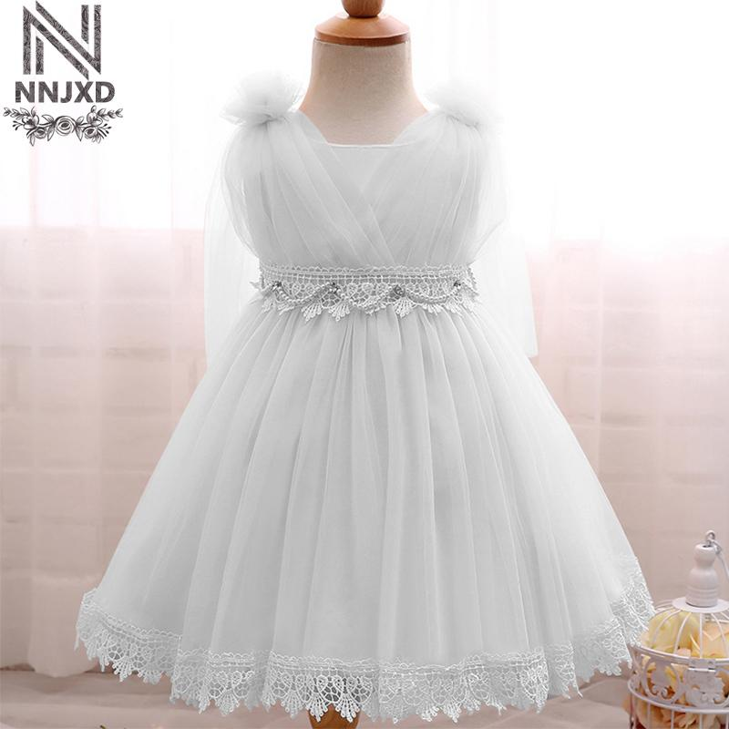 2018 Flower Baby Wedding Gown Newborn Christening Kids Girls Little ...