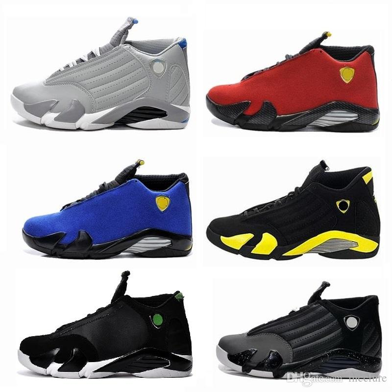 f2ebbb633d27 High Quality 14 14s Black Toe Fusion Varsity Red Suede Thunder Men  Basketball Shoes Cool Grey DMP Candy Cane Sneakers Boys Sports Slippers  Girl Sports Shoes ...
