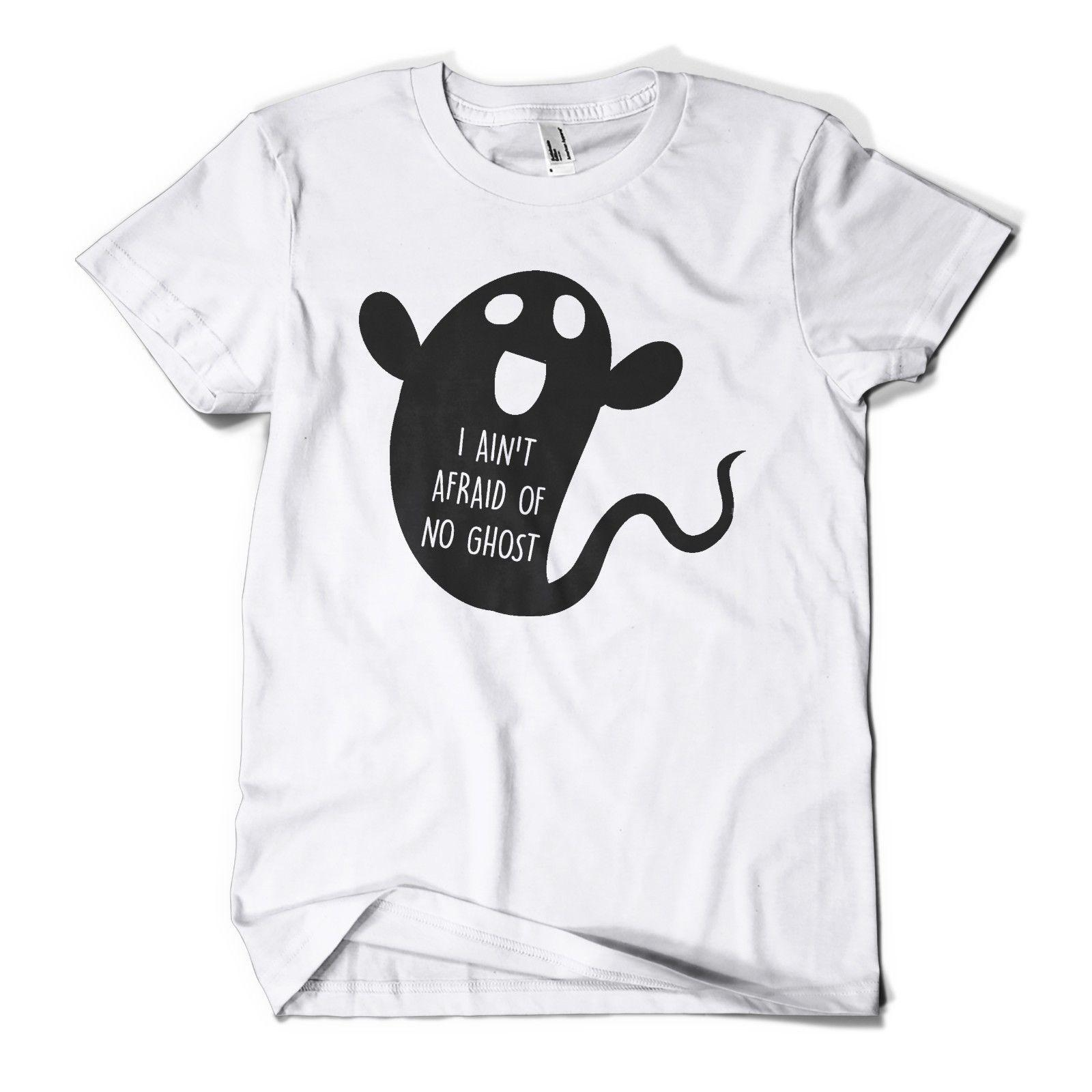 a744dc09ed5 I Aint Afraid Of No Ghost T Shirt Funny Halloween Costume Mens Girls Tee  Top New New T Shirts Funny Tops Fun T Shirt Buy Online T Shirts From  Xuthusstore