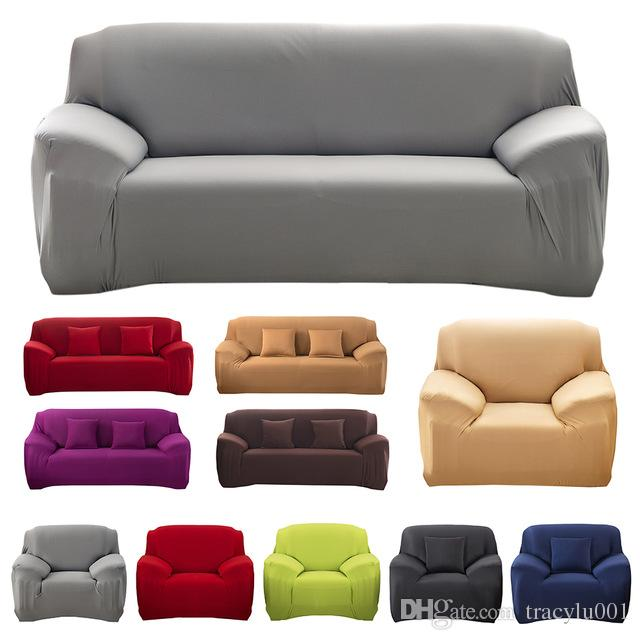 Modern Decorative Elastic Sofa Cover Solid Color Fashion Sofa Slipcovers  For living Room Stretchable Couch Cover Cushion