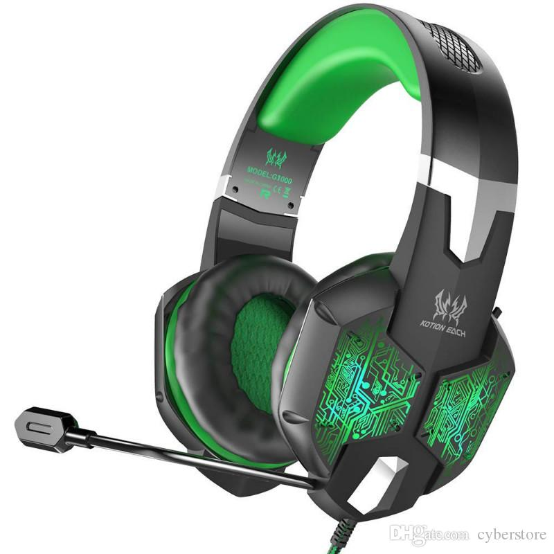 Stereo Gaming Headset LED Backlit Earphone Noise Cancelling Headphones With Mic Compatible Mac PS PC Xbox One Controller