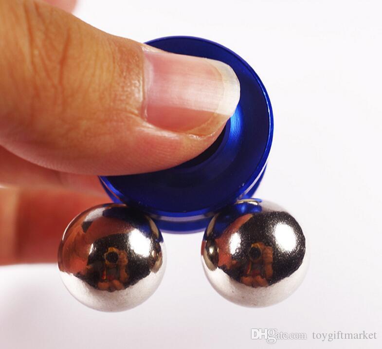 Magnetische Fidget Orbiter Spinner mit 2 Stahlkugeln Neodym Magnete 4 Farben SUS Hand Spinner EDC Neuheit Zappeln Spinner Dekompression Spielzeug