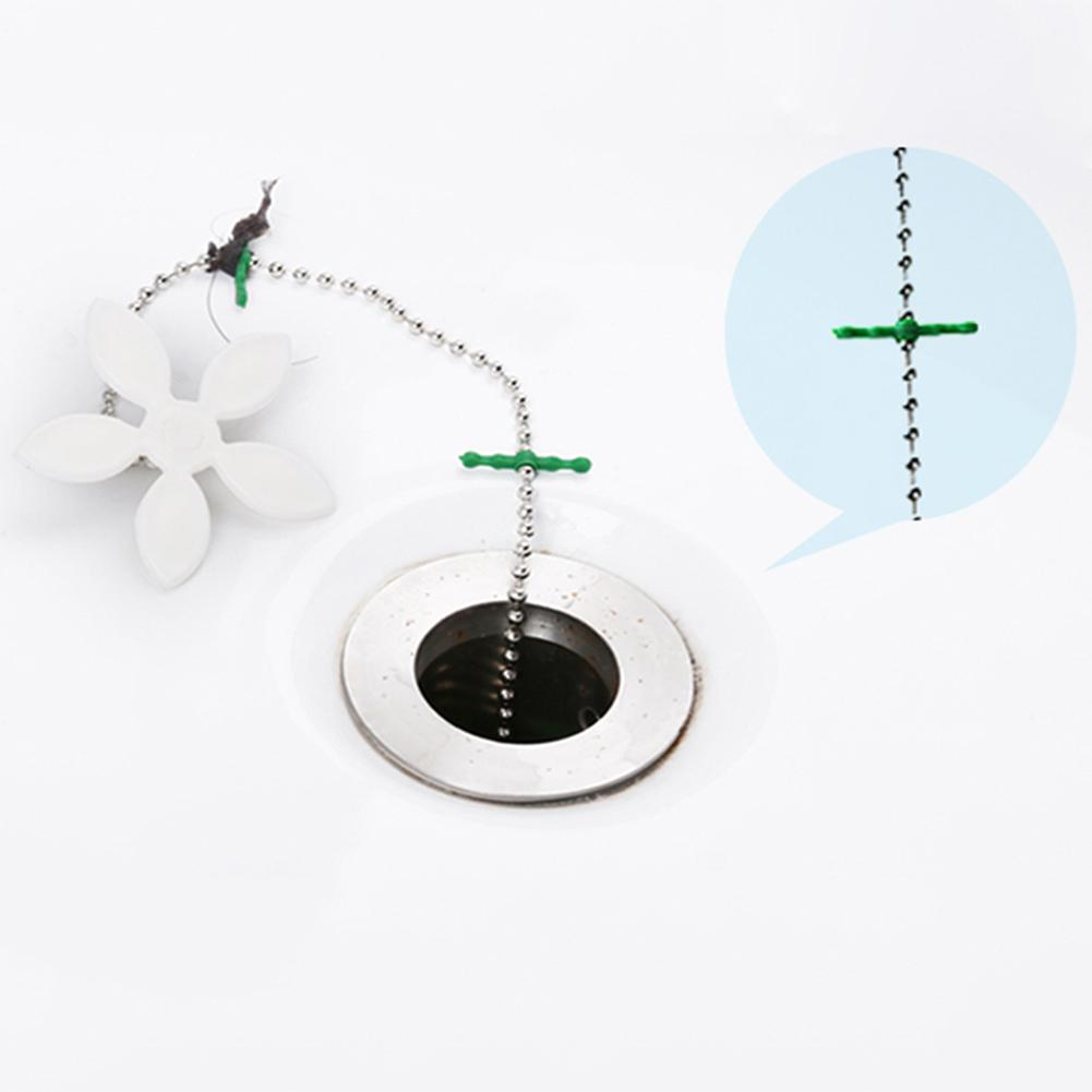 2Pcs Shower Drain Hair Catcher Stopper Clog Sink Strainer Bathroom Kitchen Sewer Drain Clean Filter Strap Pipe Hook