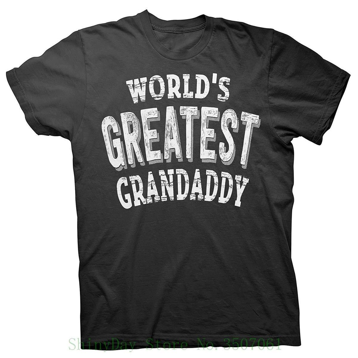 Father's Day Grandpa Gift - World's Greatest Grandaddy - T-shirt Tshirt Tops Summer Cool Funny T-shirt
