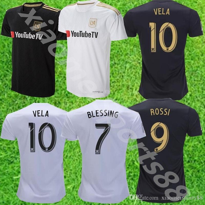 487eed2dc 2019 18 19 Los Angeles FC Soccer Jerseys GABER ROSSI 10 VELA CIMAN  ZIMMERMAN Custom Black White LAFC Adult Kids Youth 2019 Football Shirts  From ...