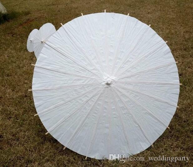 Guarda-sóis de casamento guarda-chuva de papel Branco Chinês mini artesanato guarda-chuva 5 Diâmetro: 20,30,40,60,84 cm favor do casamento decoração