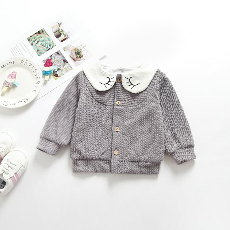 Doll Collar Baby Girl Jacket Long Sleeve Cute Baby Girl Clothes Cotton Korean Style Baby Girl Spring Jacket 18080902
