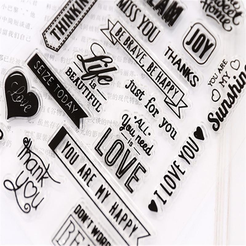 Transparent Stamp Clear Stamp Love Style Pattern Stripe DIY ...