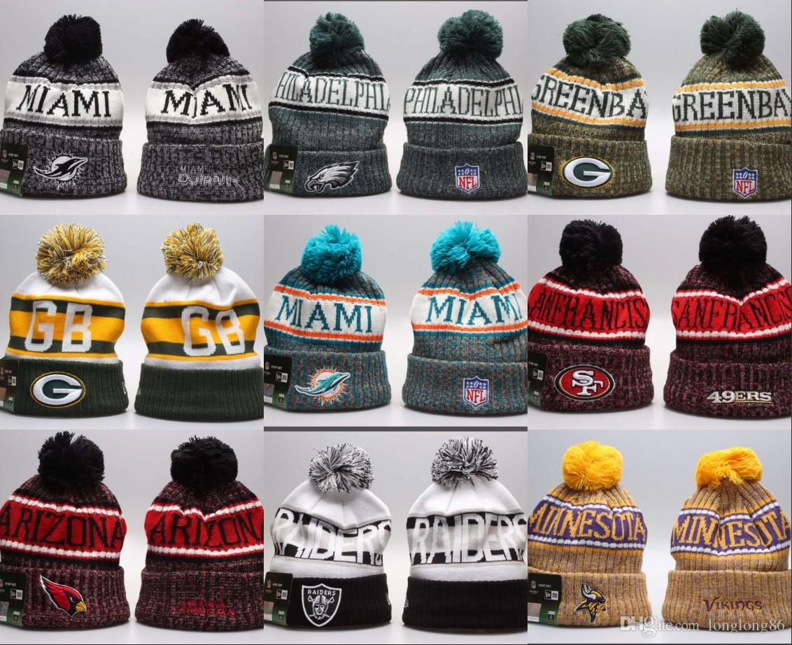 2019 New Wholesale Football Skateboards Beanie Hat Sport Cap Football Team  Winter Beanie Knitted Cap Skullies Ski Beanies For Men Women Mens Beanies  Custom ... 88855563073