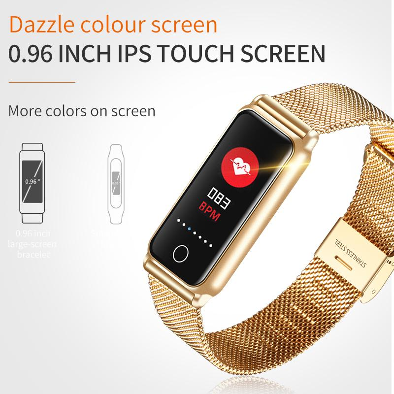 Waterproof Ip67 Smart Band Y8 Support Heart Rate Blood Pressure For