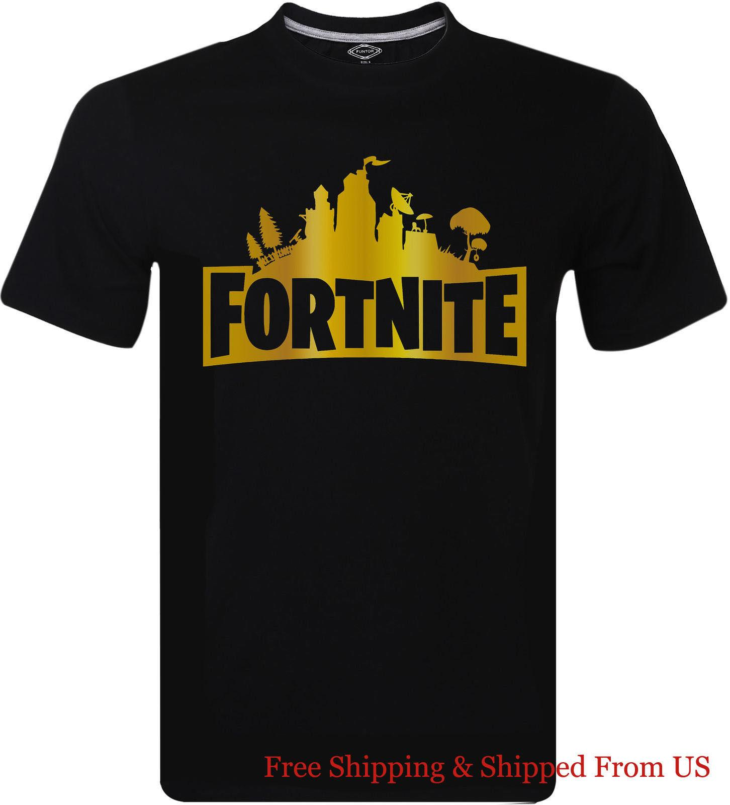 d4e595c6c60 Fortnite Gold Cool Logo Battle Royale Xbox Gaming Gamer T Shirt Men S Tee  Fashion Wholesale 2018 Funny Tee Casual Short Sleeve Random Funny T Shirts  Clever ...