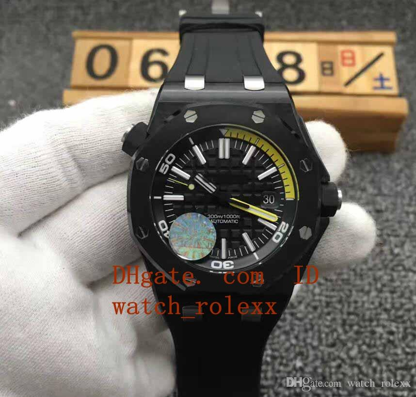 Mens Jf Factory 15706 42mm Cal.3120 Black Ceramic Carbon Dial Rubber Case  Automatic Movement Waterproof Diving Dial 9015 Wristwatc Watches Deal  Wristwatch ...
