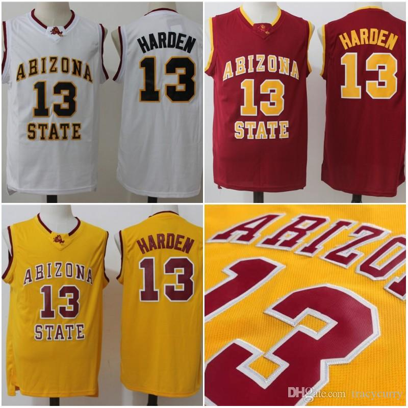 ae4fd8561c8 ireland 13 james harden arizona state jersey cheap harden yellow white red  university jersey stitched college