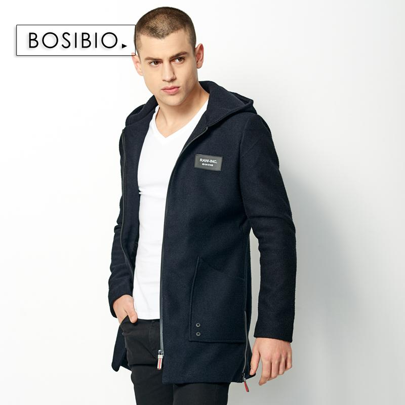 Men Fashion Trench Male Casual Long Hooded Zipper Jacket With Double Pockets High Quality Mens Dark Blue Slim Overcoats 99016 Lights & Lighting