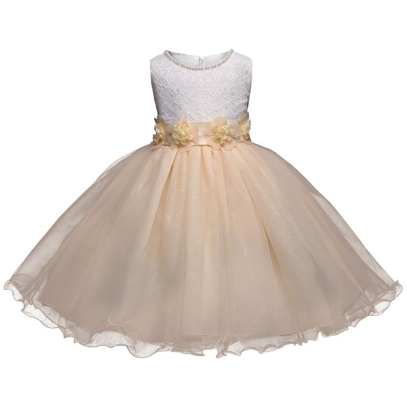 Kids Party Dresses For Girls Clothes Summer Brand Baby Girl Dress Children Graduation Prom Gown Lace Flower Rustic Wedding Dress