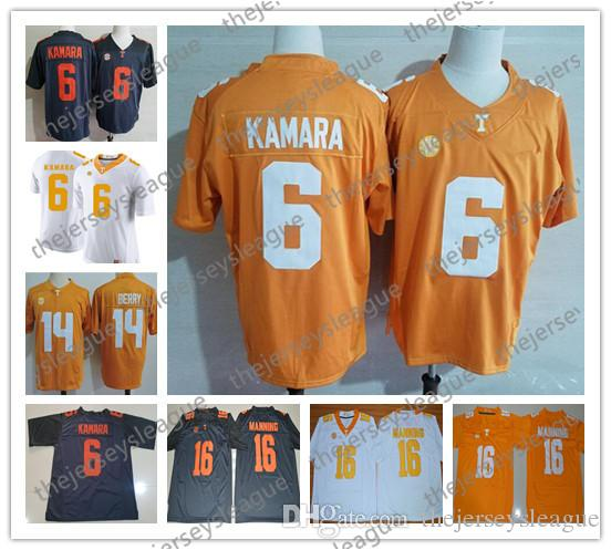 6a46d9f41 ... jersey  2019 tennessee volunteers 6 alvin kamara 16 peyton manning gray  orange good quality stitched ncaa co