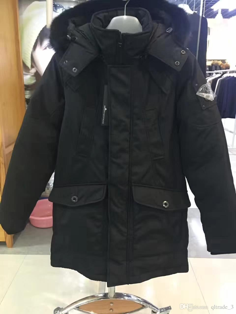 fashion black MSE KCKLES men long Parka with hoody snow down parka for winter qltrade_3