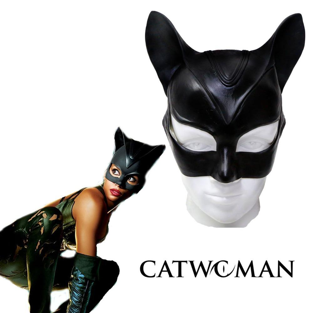 2018 Catwoman Mask Cosplay Costume Latex Helmet Fancy Adult Halloween From Yonnie 2296