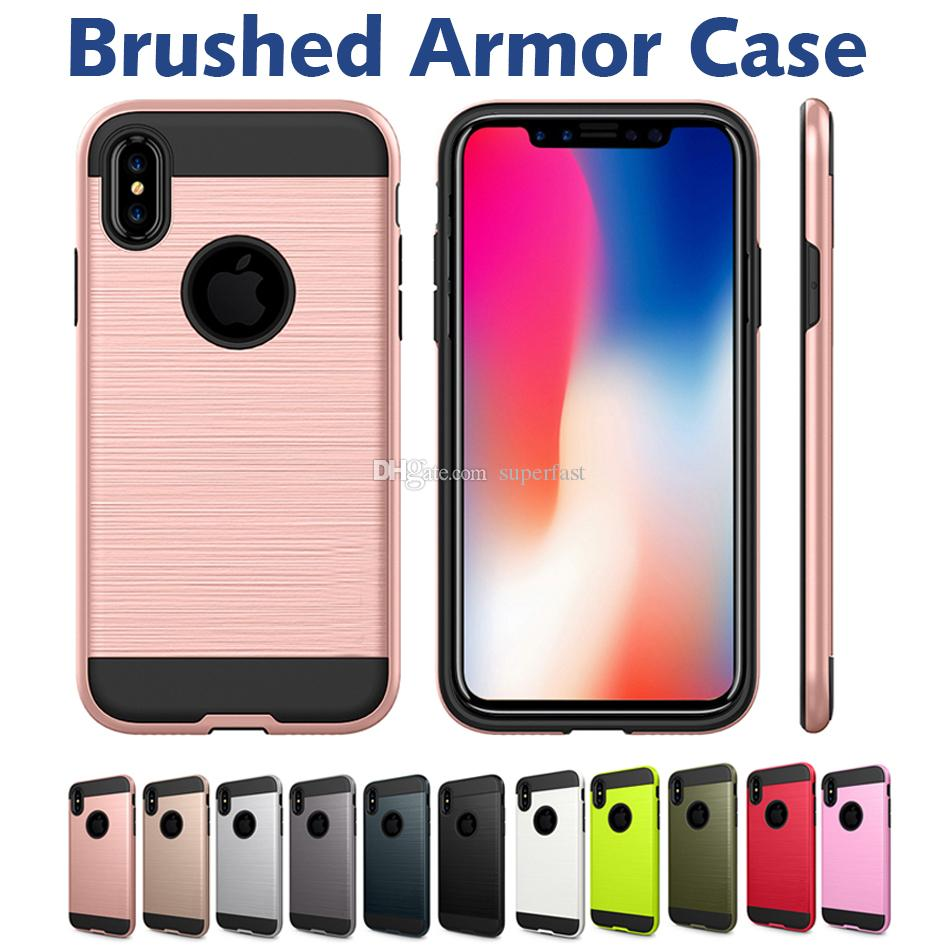 Für iphone xr 8 7 plus telefon case stoßfest hart pc + tpu rüstung handy case für samsung galaxy s10 s9 plus note 9