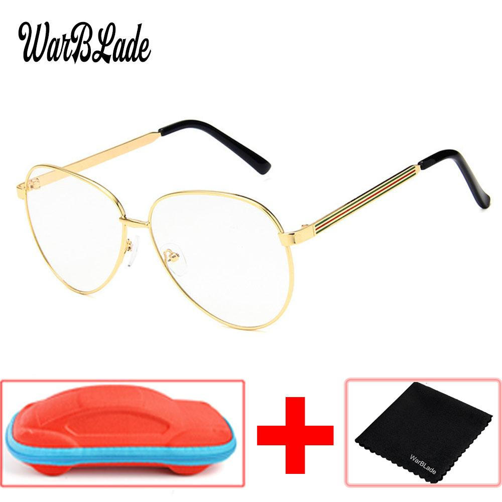 Großhandel Frauen Gold Klare Gläser Myopie Klaren Rahmen Gläser ...