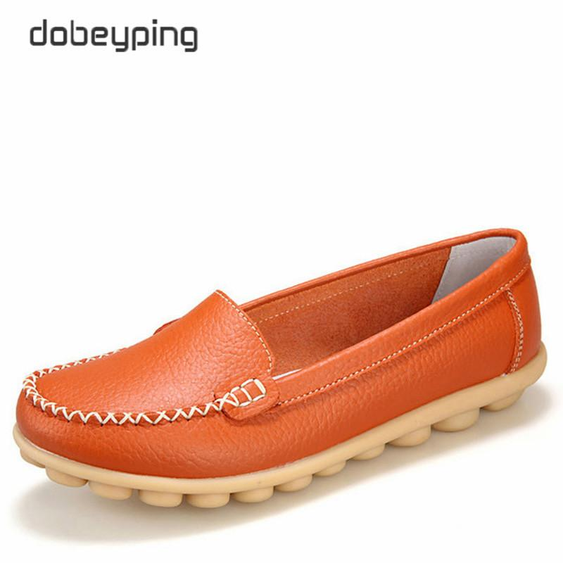 75c645c160b 2019 Casual Casual Shoes Women Soft Genuine Leather Women S Loafers Slip On  Woman S Flats Shoe Low Heel Moccasins Footwear Large Size 35 42 Clogs For  Women ...