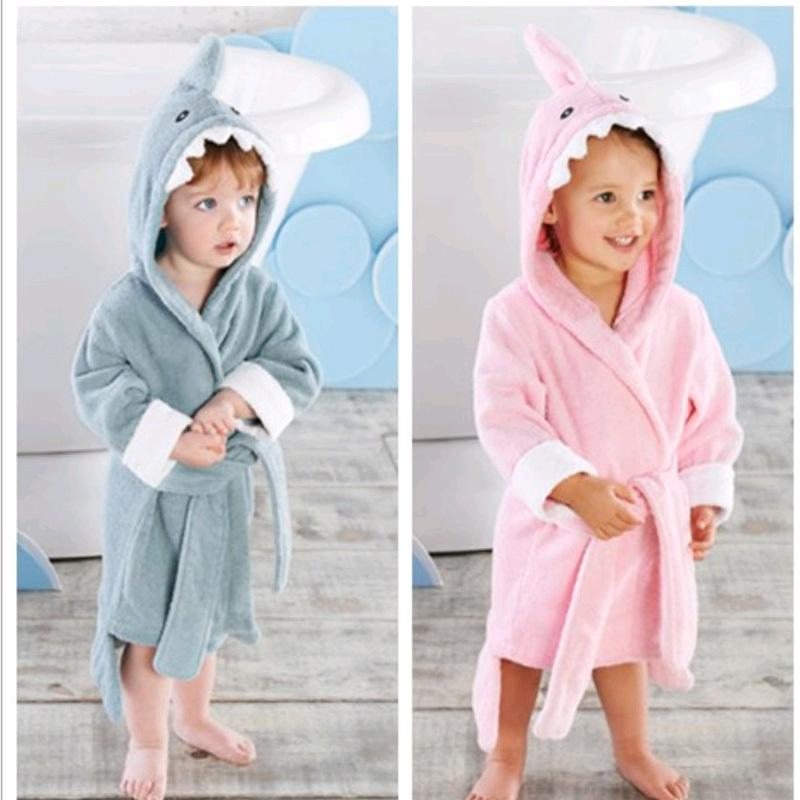fc5346a4d7 2 6 Year Baby Robe Cartoon Hoodies Girl Boys Sleepwear Good Quality Bath  Towels Kids Soft Bathrobe Pajamas Children S Clothing Y18102908 Girls  Fleece ...