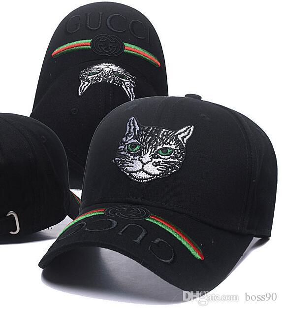 Compre 2019 Nueva Marca Para Hombre Sombreros De Diseño Gorras De Béisbol  Ajustables De Lujo Dama De La Moda De Verano Cat Casquette Mujeres Ocio Cap  A ... 821537ddf73
