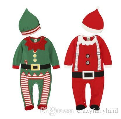 e4b965351 2019 Christmas Infant Rompers Baby Boys Girls Clothes Santa XMAS Romper  Jumpsuit Outfits Baby Clothing Party Costume Jumpsuit With Hat Xmas Gifts  From ...