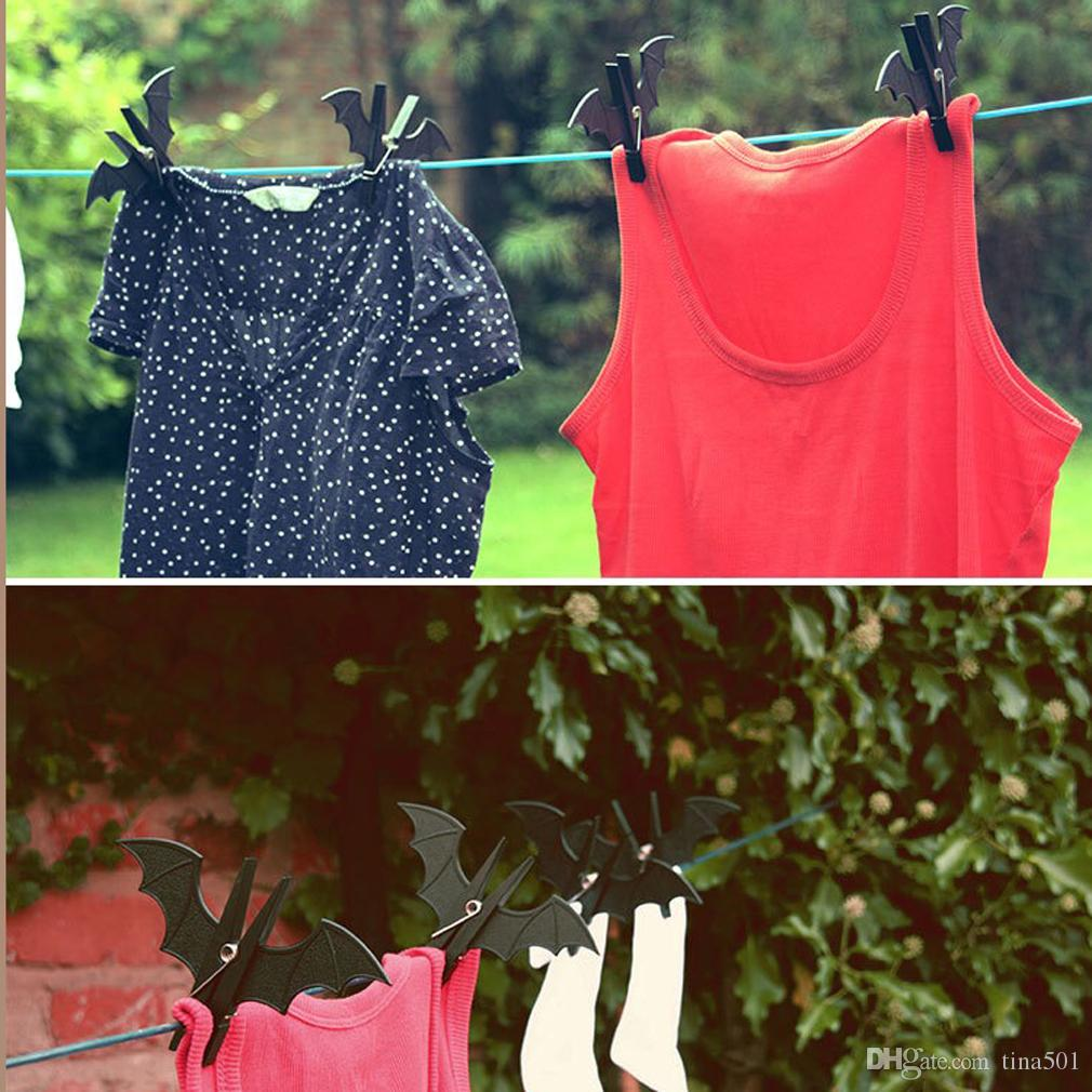 Bat Shape Plastic Clips Clothespins Clips Windproof Quilt Clip Clothes Hanging Pegs