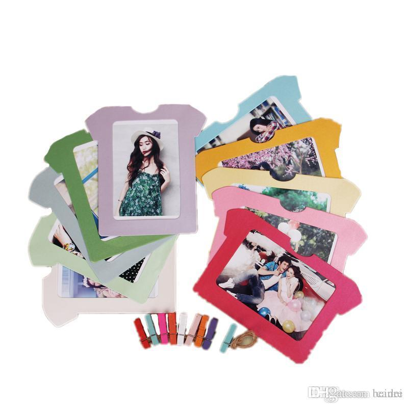 2019 Creative DIY Card Photo Frame With Clip Ropes Family Kraft Hanging Wall Photos Picture Album Frames 6 8 Inch A $ From Canre, $23.34 | DHgate.Com