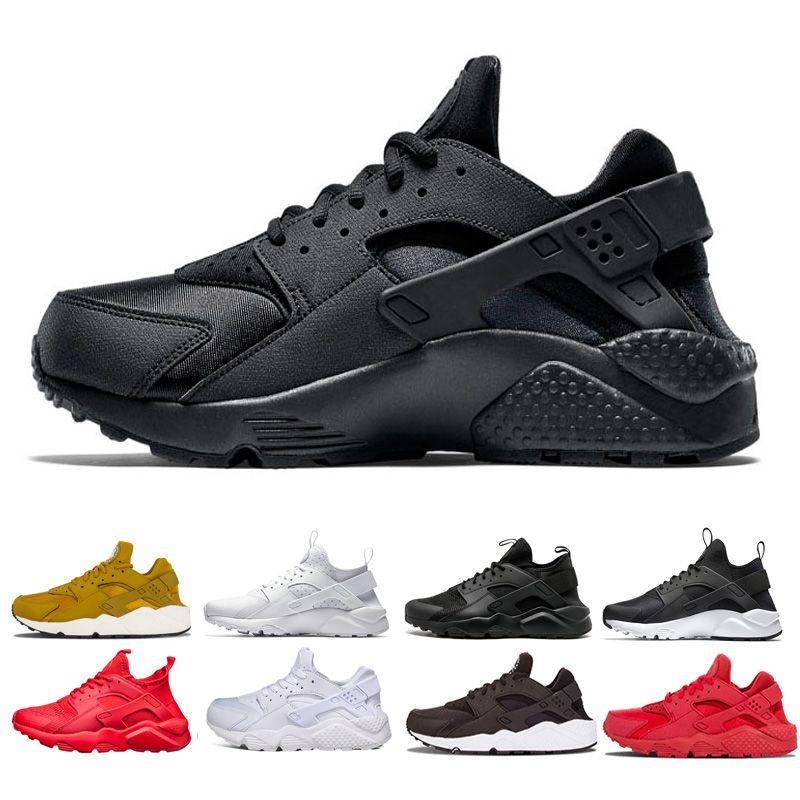 reputable site 3f74f 37ff0 Großhandel Huarache Sneaker Ultra Run Schuhe Tripel Schwarz Weiß Rot Laufschuhe  Herren Damen Huaraches Outdoor Jogging Trainer Sportschuhe Größe 36 45 Von  ...