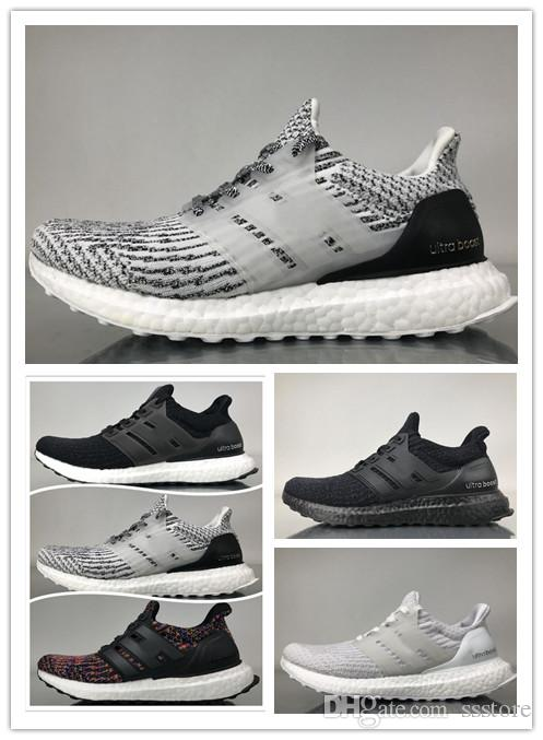 bcacb300d Top Quality 2018 New Ultra Boost 4.0 Shoes Core Primeknit Runner Fashion Running  Sneaker For Ultraboost 3.0 Men Women Sports Shoes Boost 4.0 Boost 3.0 4.0  ...